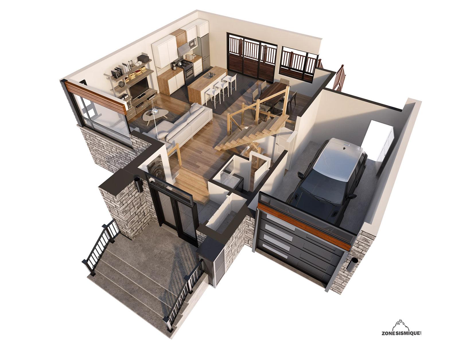 projet maison good projet maison plain pied de maisons. Black Bedroom Furniture Sets. Home Design Ideas
