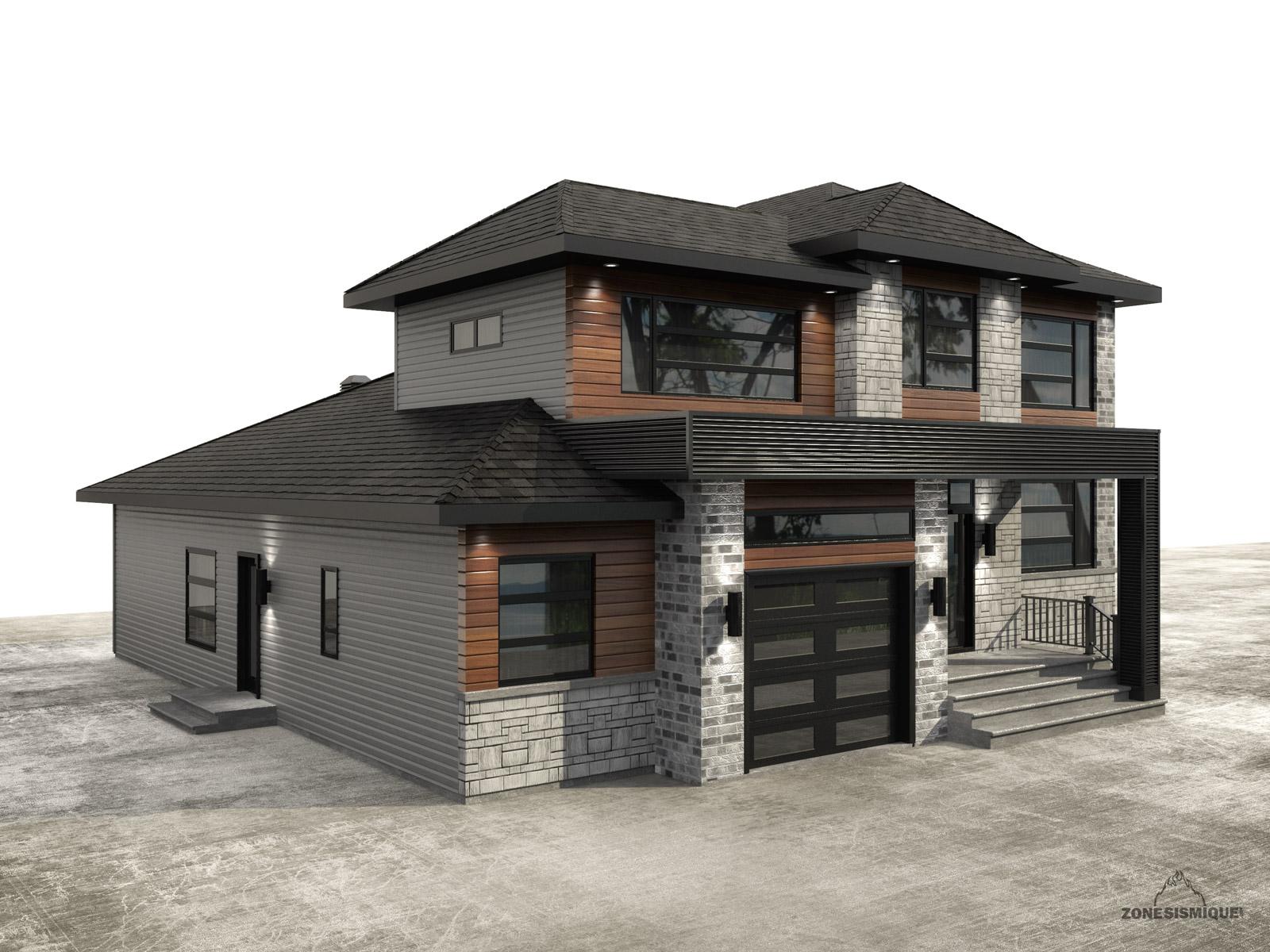 Construction de la salette des maisons et des gens for A cote de la maison